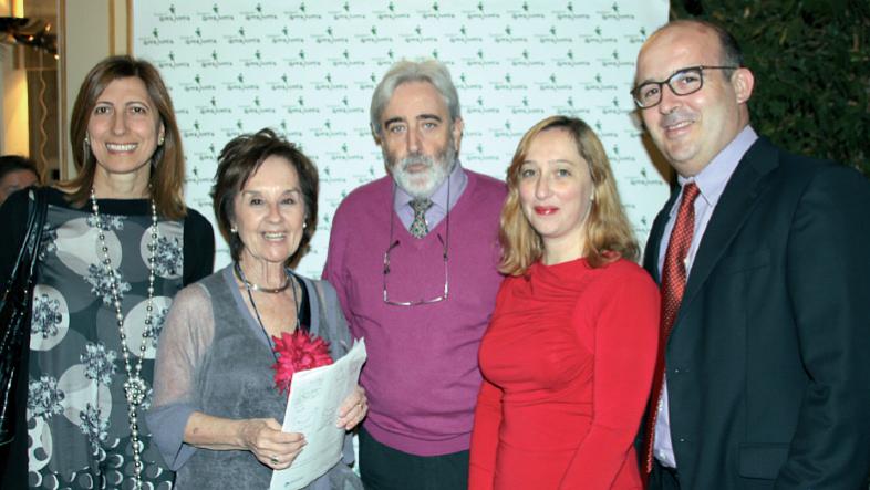 La doctora Román y el doctor Andreu Palou, con Catalina Picó Ana Rodríguez y Joan Ribot, investigadores y docentes de la Universitat de les Illes Balears.