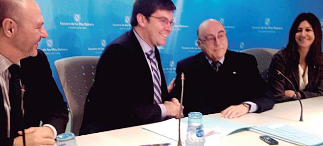 Miquel Tomás, Martí Sansaloni, Miquel Alenyar y Carmen Martín.