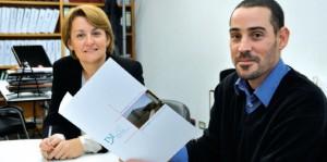 Carmen Pino, responsable de Calidad de IBILAB, y Eduardo Fresneda, responsable de Mantenimiento