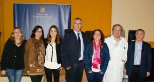 Los protagonistas, en la presentación de la nueva consulta de la Unidad de Cuidados Paliativos Pediátricos de Mallorca en el Hospital Comarcal de Inca