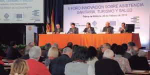Un momento de la intervención del presidente, José Ramón Bauzá, durante la inauguración del foro.