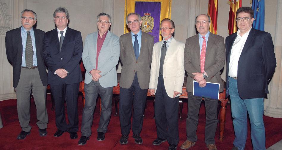 Los doctores Miquel Fiol, Javier Ibáñez, Joan Bargay, Macià Tomàs, Félix Grases, Joan Besalduch y Antoni Bennasar.