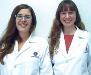 Mª Magdalena Juliá y Rosa Llobera, matronas de Clinic Balear.
