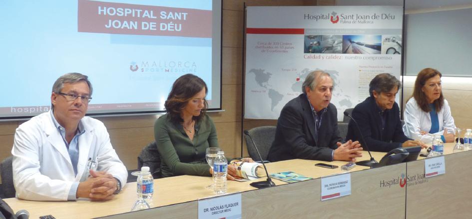 Presentación de la Unidad de Medicina Deportiva, en el Hospital Sant Joan de Déu, a cargo de su director gerente, Joan Carulla.