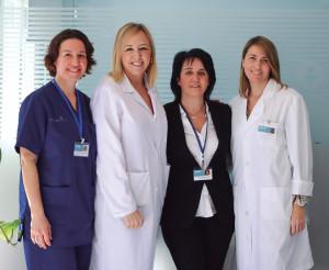 Maria Jesús Villalonga, Isabel Bonnín, Agustina Arcos y Dolores Moreno