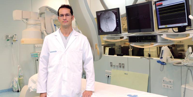 El Dr. Miguel Casares, radiólogo intervencionista de Juaneda.