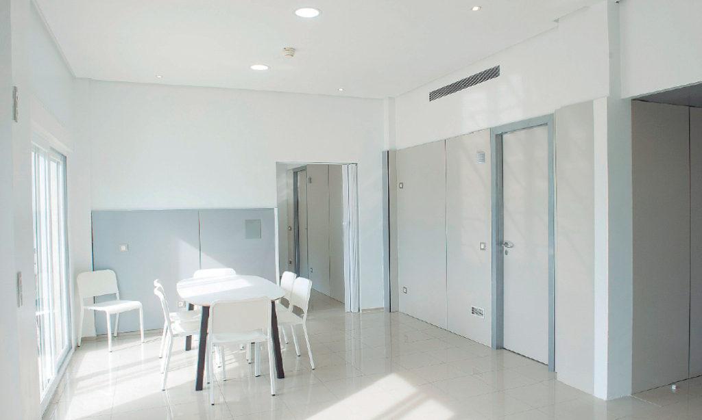 Sala común de ocio de la Unidad de Psiquiatría.