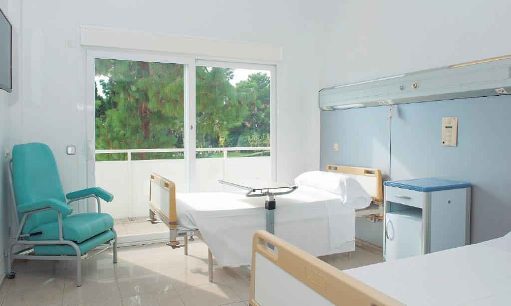 Una habitación de la Unidad de Psiquiatría de Hospital Juaneda Miramar.